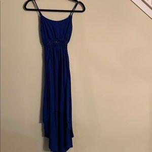 Derek heart, high & low blue dress, size M